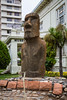 Easter Island Moai at the Museum of Archaeology in Vina del Mar, Chile, South America.