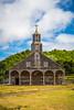 The Iglesia de Quinchao, Church of Quinchao, in Chiloe province, Chile, South America.