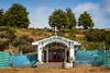 A Catholic religious shrine at Punta Carrera near Punta Arenas, Chile, South America.