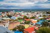 Cerro de la Cruz mirador view of Punta Arenas, Chile, South America.