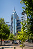 High-rise buildings in downtown Santiago, Chile, South America.
