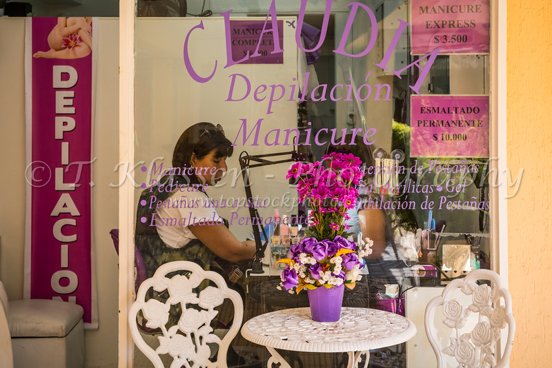 The Claudia Manicure shop in Santiago, Chile, South America.