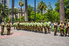The Carabineros, Chilean security forces drill team in Plaza de Armas, Santiago, Chile, South America.