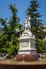 The Simon Bolivar Monument in Santiago, Chile, South America.