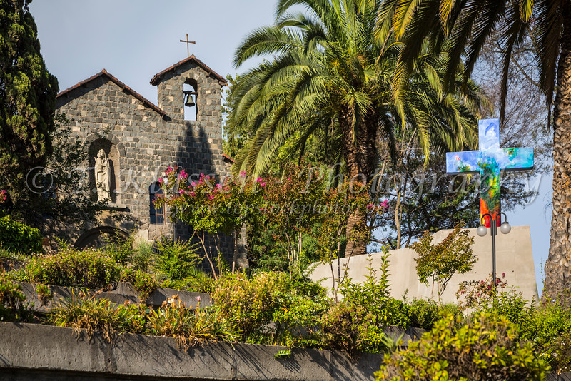The Sanctuary of the Immaculate Conception on San Cristobal Hill, Santiago, Chile, South America.