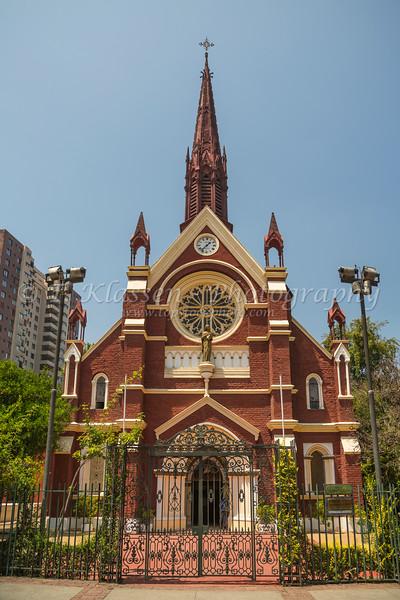 The Iglesia San Francisco de Borja church exterior in Santiago, Chile, South America.