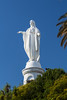 The statue of the Virgin Mary on San Cristobal Hill in Santiago, Chile, South America.