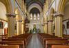 The Iglesia San Francisco de Borja church interior sanctuary in Santiago, Chile, South America.