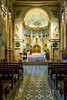 A small side chapel in the Metropolitan Cathedral of Santiago (Catedral Metropolitana de Santiago) on Plaza de Armas in Santiago, Chile, South America.