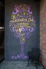 A Barrrica 94 Restaurant sign at Patio Bellavista, on Pio Nono Street, Providencia, Santiago, Chile, South America.