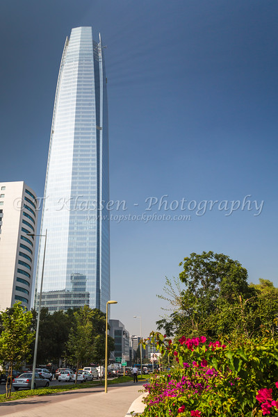 The Great Santiago Tower in Santiago, Chile, South America.