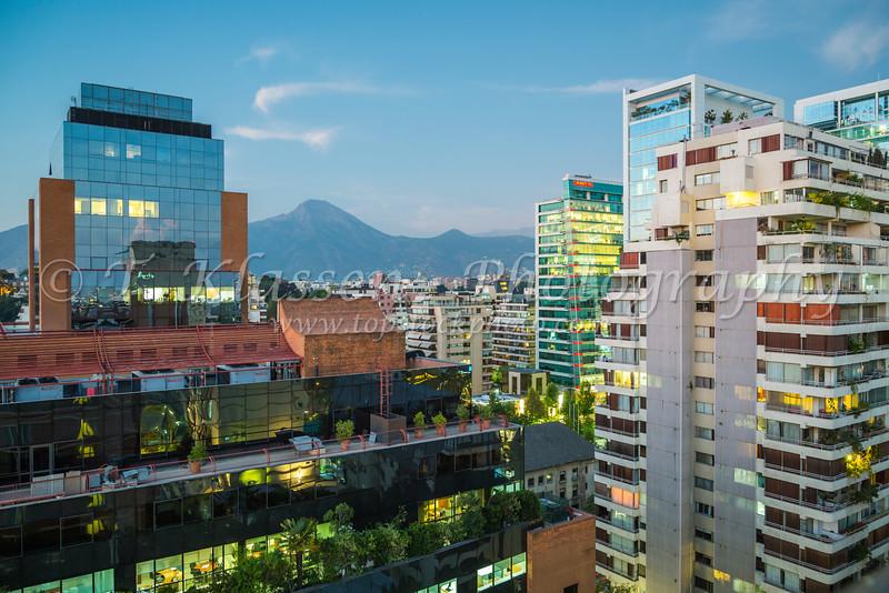 The city skyline of Saniago, Chile, South America.