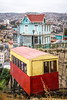 One of the furniculars of Valparaiso, Chile, South America.