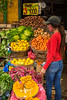 The colorful city market at Valparaiso, Chile, South America.