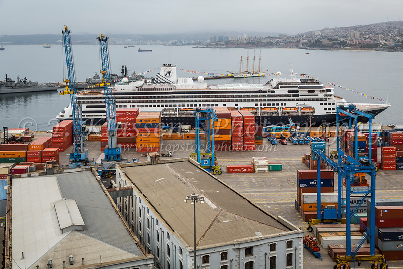 The port of Valparaiso, Chile, South America.