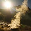 "A photo of the El Tatio geysers in the Atacama desert with the sun rising - Chile.  Travel photo from the Atacama Desert, Chile. <a href=""http://nomadicsamuel.com"">http://nomadicsamuel.com</a>"