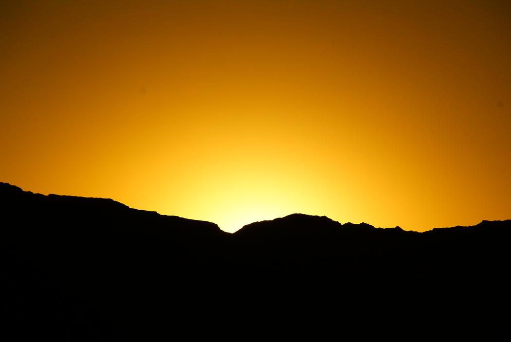 Golden Sunset at the Valley de la Luna, Chile