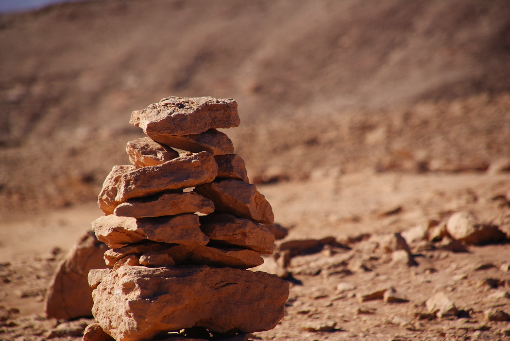 Rock Pile Formation in Atacama, Chile