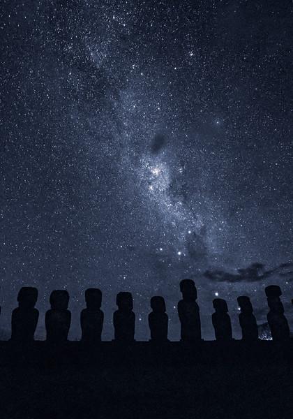 Milky Way and Moai