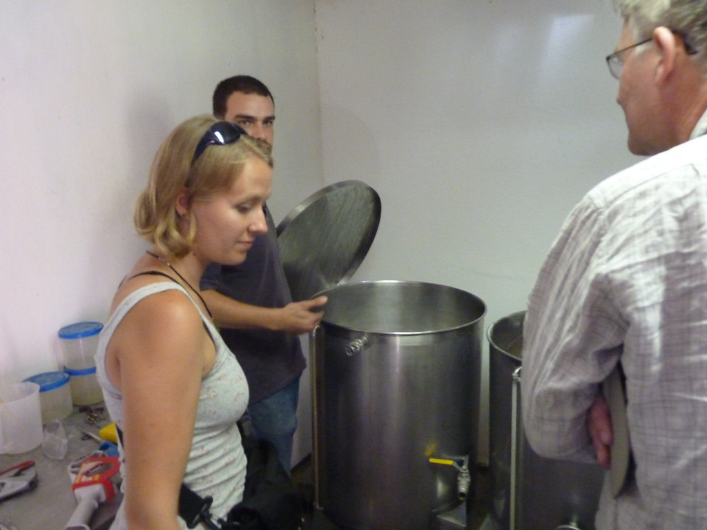 Guayacán brewery in Vicuña, very small production, awesome beer, and we got to have a tour!