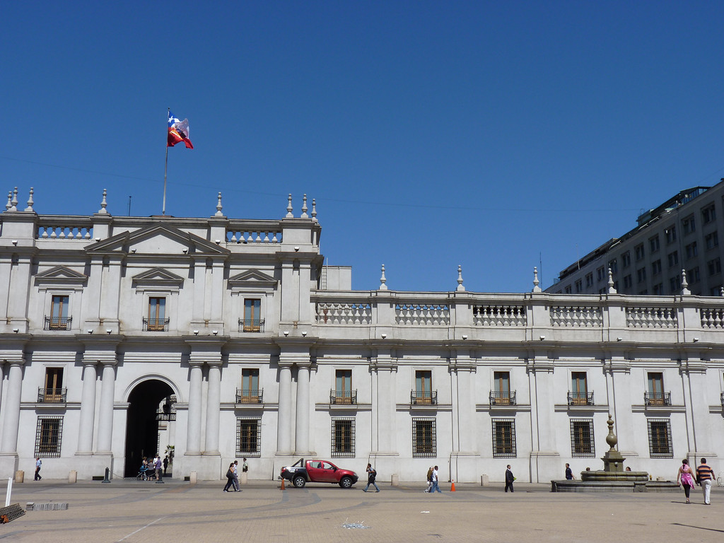 La Moneda, residence of the president of Chile and site of the military overthrow in the 1970s