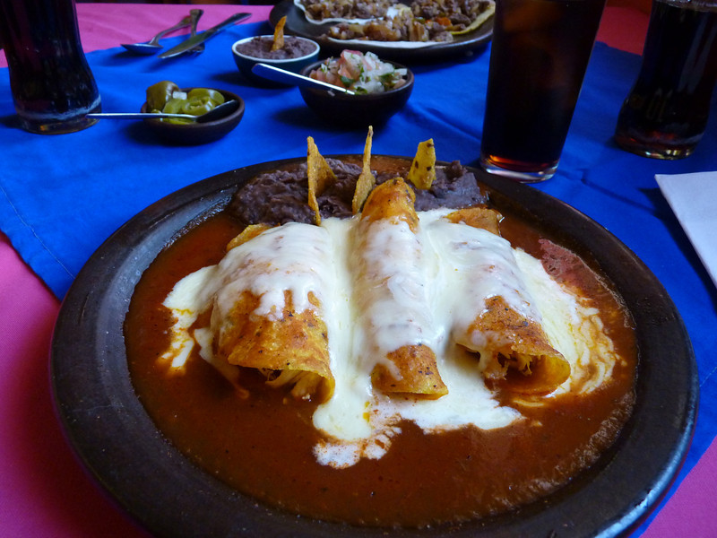 Probably the best enchiladas I have ever eaten anywhere.