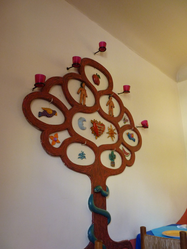 Tree of life?!  Mexican restaurant, Santiago