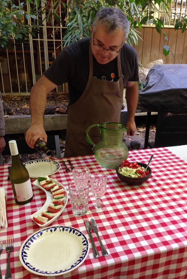 Francesco, preparing lunch