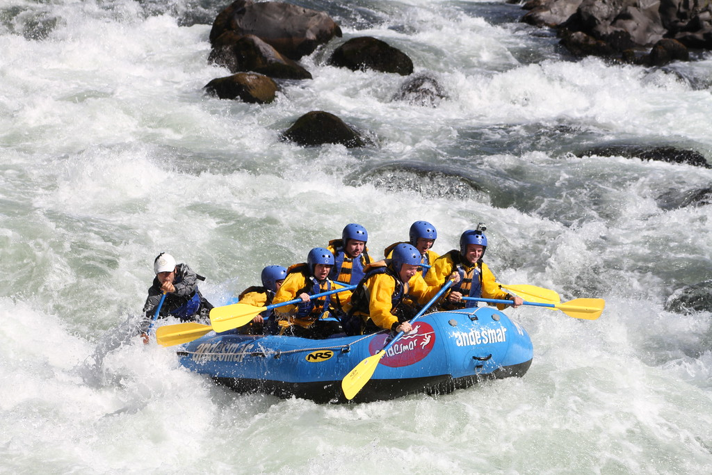 white water rafting chile