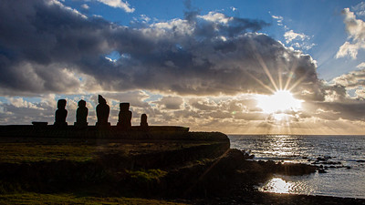 The archeological site of Ahu Tahai, a short walk from Hanga Roa is THE place to watch the sunset on Easter Island.