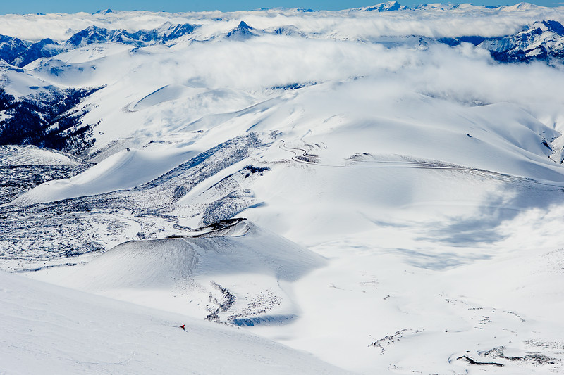 Josh Dirksen snowboarding  southern Chile