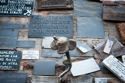 Close up of a memorial wall, Santiago, Chile, South America