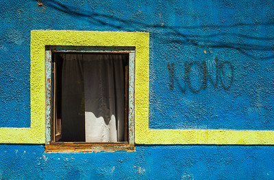 Colourful wall painting, Pisco Elqui, Chile, South America