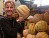 Temuco market ~ Huge musk melon