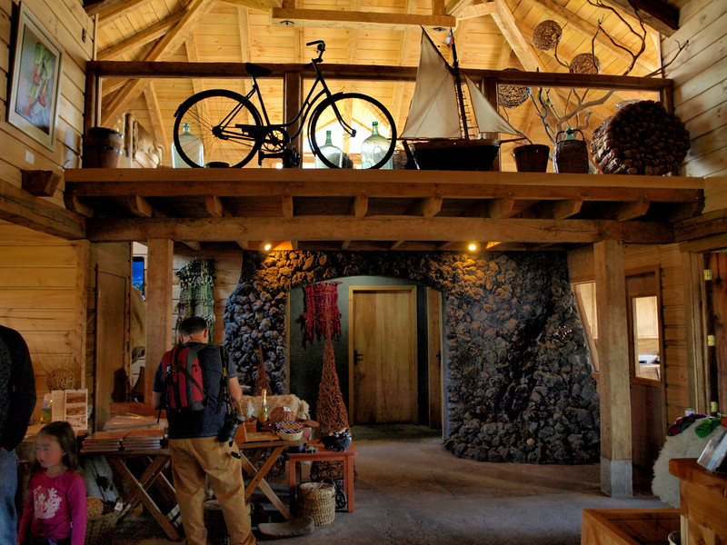 Puerto Octay restaurant ~ full of antiques from the old country; sell gourmet foods, sheepskin, crafts, etc.