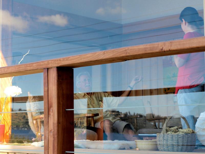 Frutillar ~ Rich & Montse thru front window