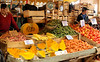 Temuco market ~ Huge squash, juicy peaches, nectarines, etc.
