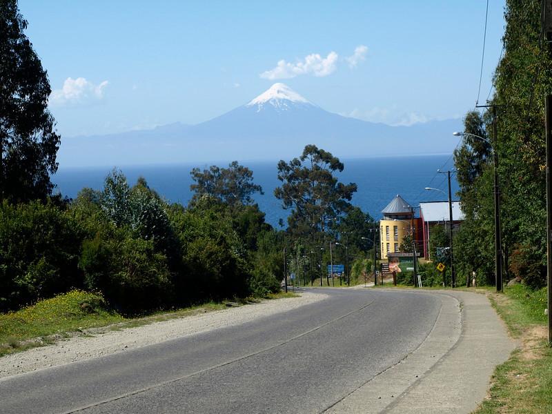 Entering Frutillar, on huge lake, 4 Hours' drive south of Villarrica