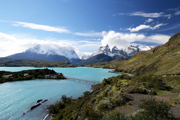 Lake Pehoe, Cerro Paine Grande and Cuernos Del Paine, Parque Nacional Torres del Paine, Patagonia, Chile