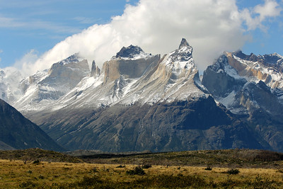 Cerro Paine Grande and Cuernos Del Paine, Parque Nacional Torres del Paine, Patagonia, Chile