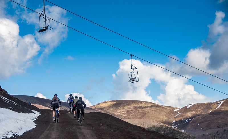 Cycling in the Chilean Andes