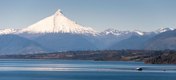 Puntiagudo mountain and Rupanco lake