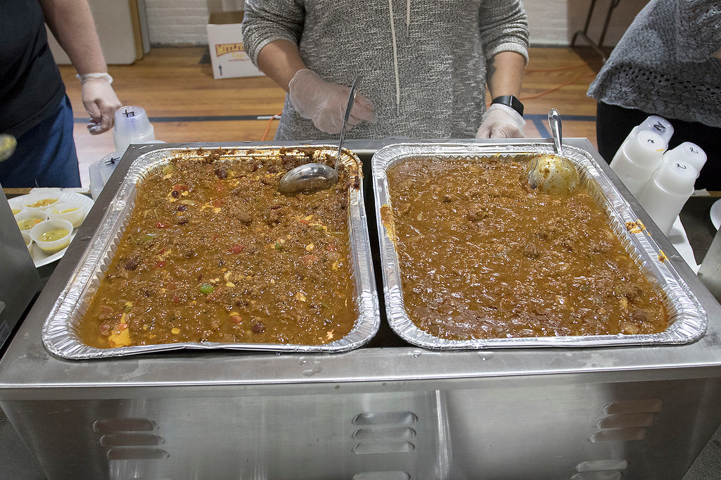 . The Third annual Karing 4 Kidz chili cook-off  was held at the Fitchburg Senior Center Saturday, May 4, 2019. Some of the chili waiting for the event to start. SENTINEL & ENTERPRISE/JOHN LOVE