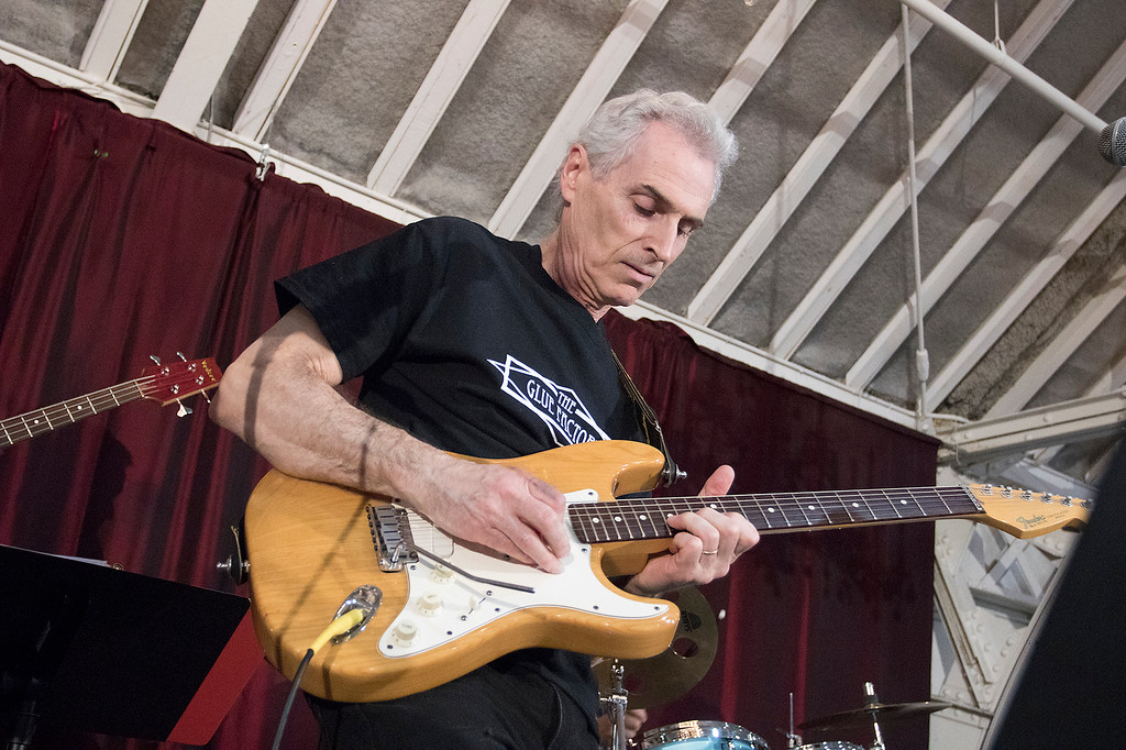 ". The Third annual Karing 4 Kidz chili cook-off  was held at the Fitchburg Senior Center Saturday, May 4, 2019. Bob Conroy plays the guitar with ""The Glue Factory\"" during the event.  SENTINEL & ENTERPRISE/JOHN LOVE"