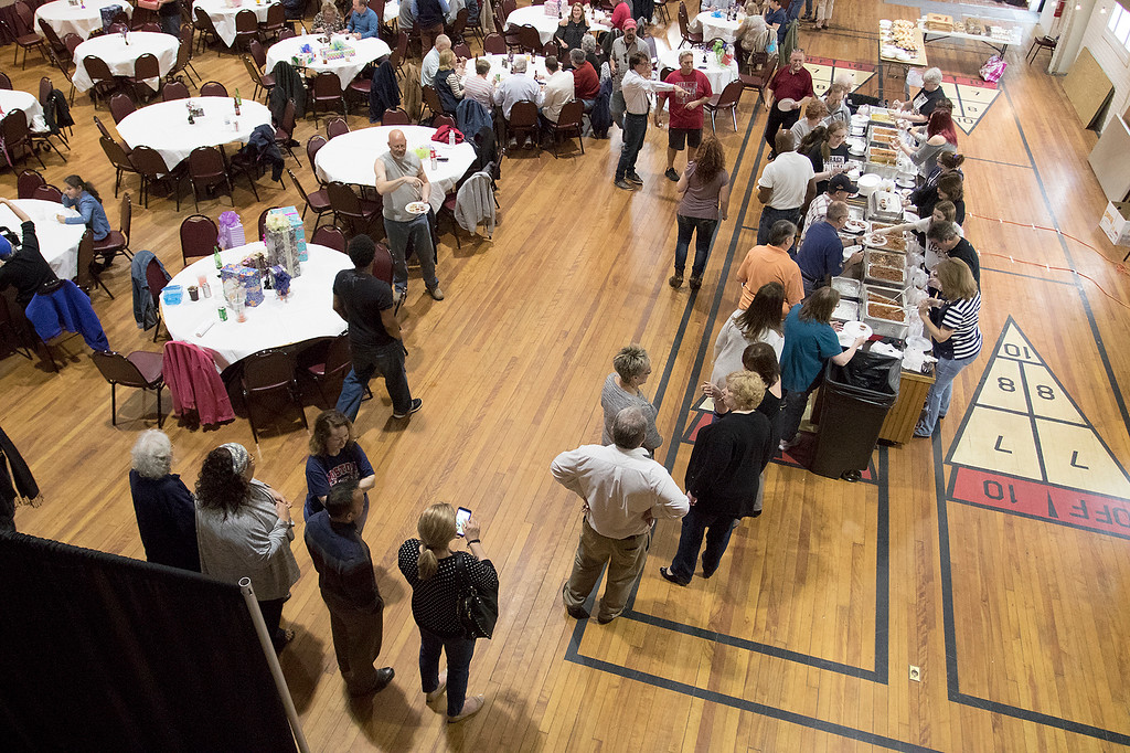 . The Third annual Karing 4 Kidz chili cook-off  was held at the Fitchburg Senior Center Saturday, May 4, 2019. Many lined up to get a taste of the chili. SENTINEL & ENTERPRISE/JOHN LOVE
