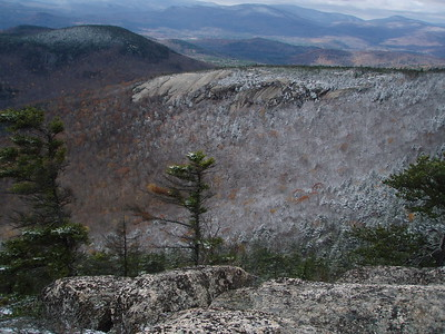 When we reached the summit of Welsh we marveled at the wonderful view of Dickey's ledges.