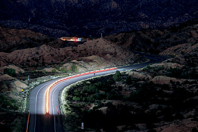 Juan Medina Road during the pilgrimage to the Santuario de Chimayo in the early morning hours on Good Friday, April 19, 2019. Luis Sánchez Saturno/The New Mexican