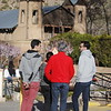 French tourists overlook the Santuario de Chimayo on Thursday, March 29, 2018. Luis Sanchez Saturno/The New Mexican
