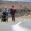 Alma Marin of Española, right, her sister Silvia Marin, and Alma's baby Nataly Ortiz, 2, make their way to the Santuario de Chimayo on Monday, March 26, 2018. Silvia is on her 12th pilgrimage in a row. Luis Sánchez Saturno/The New Mexican