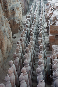 Terracotta Army of Qin Shi Huang, the First Emperor of China neat Xi'an China
